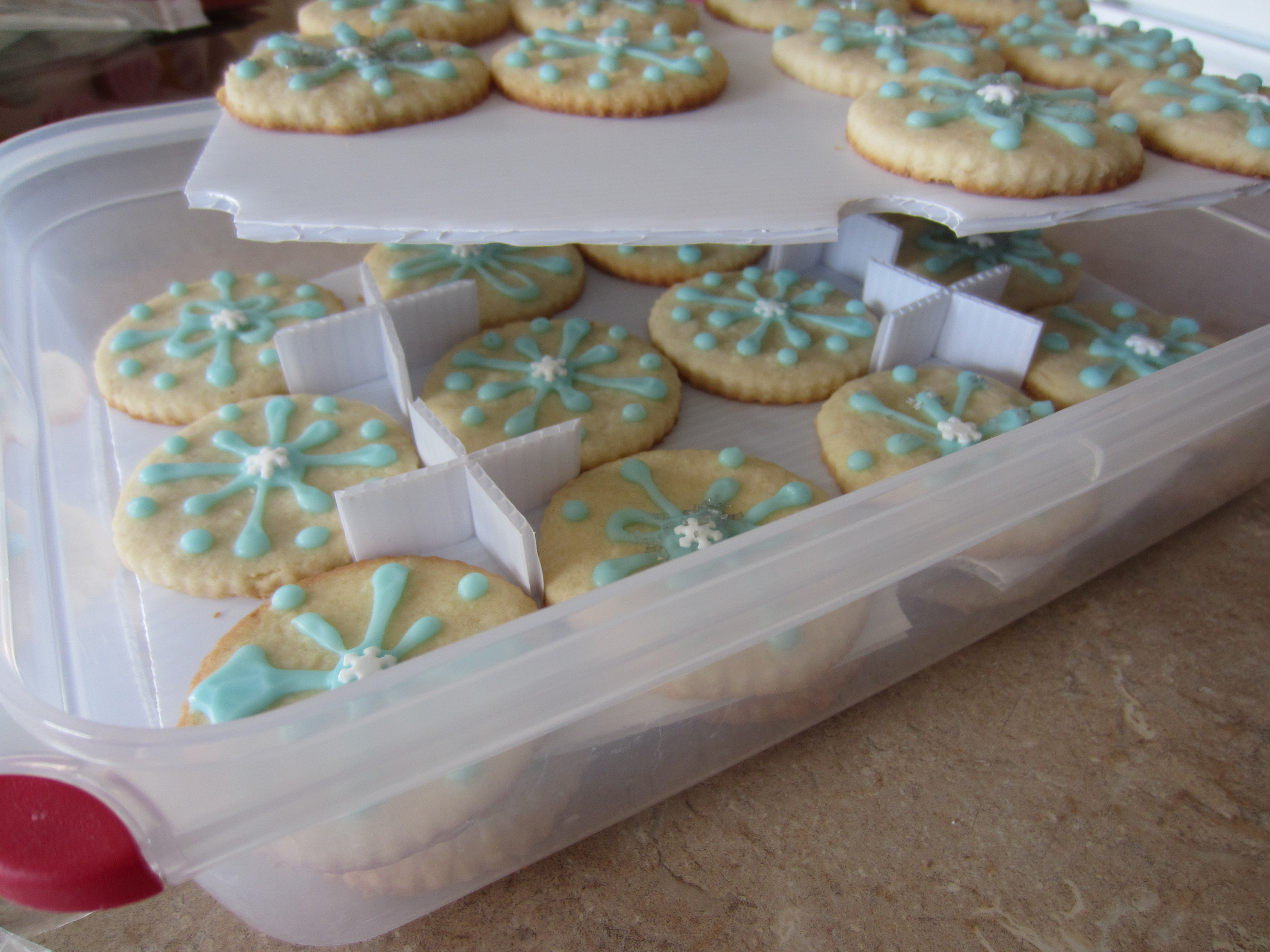 Decorative Cookie Containers Frozen Birthday Snowflake Sugar Cookies Partykitchen