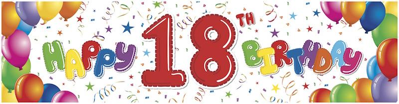 happy 18th birthday banner