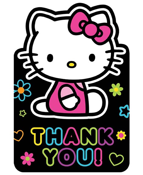 Hello Kitty Tween Party Thank You Cards Party Supplies Party