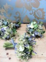 Green Paired with Blue Bouquet