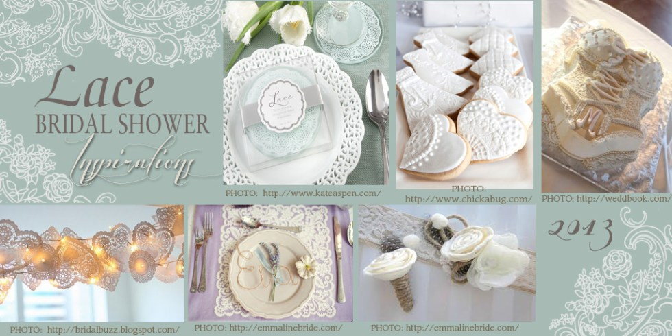 Lace Inspired Bridal Showers are Trends for 2013