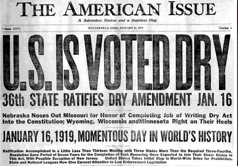 prohibition newspaper