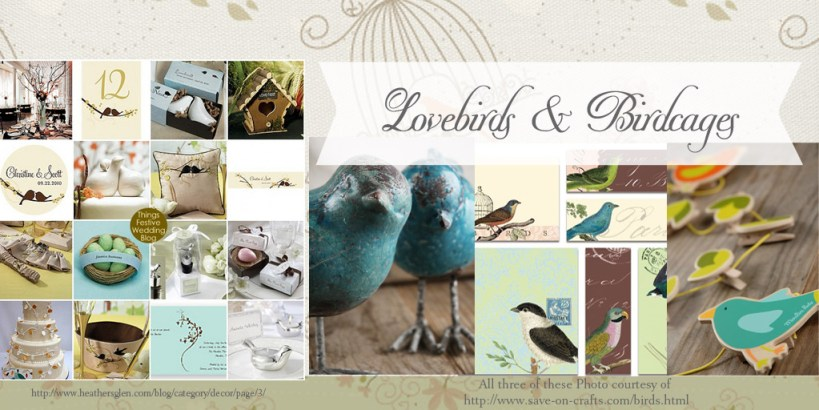 Rustic Bridal Shower Decor DIY Decorations Lovebirds and Bird Cages
