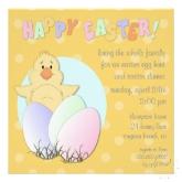 Lil chick Easter egg hunt invitation