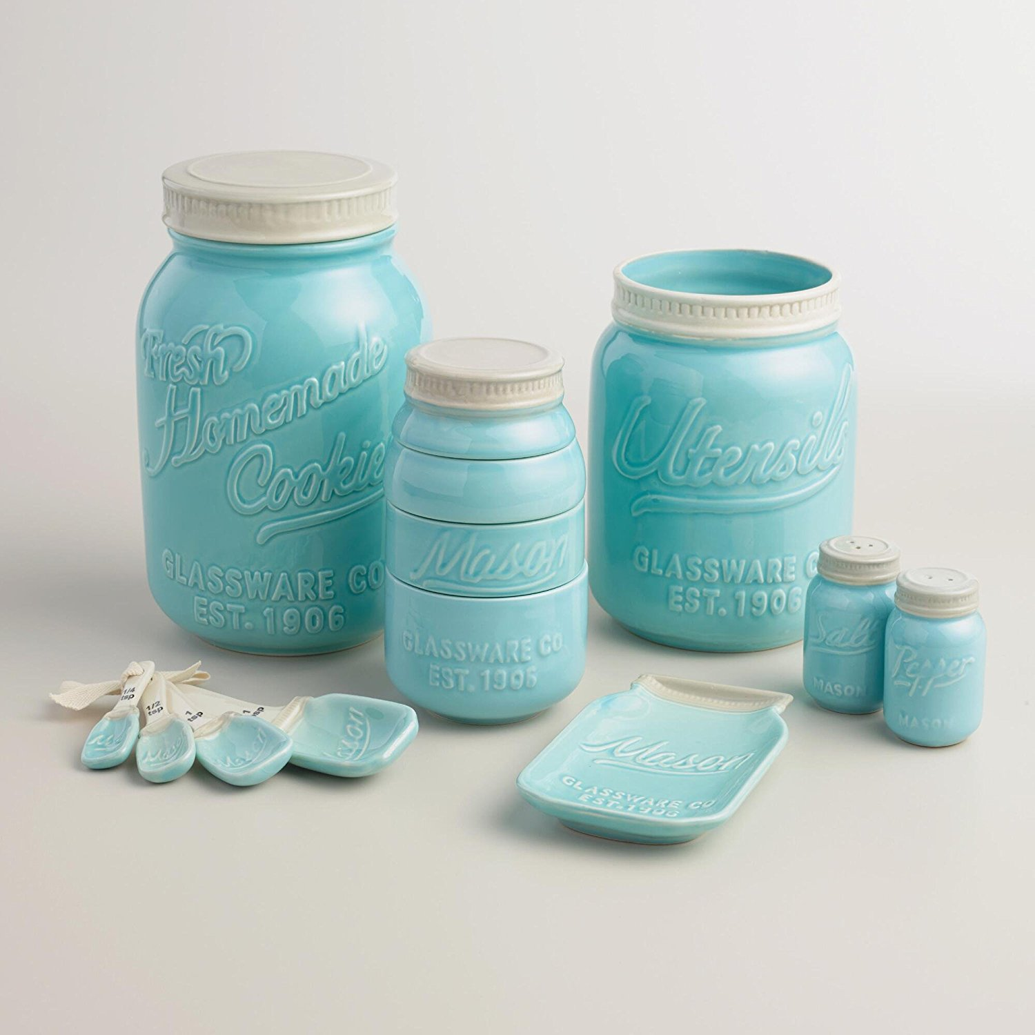 Ceramic Cookie Jar Sets Mason Jar Ceramic Spoon Rest By World Market Party