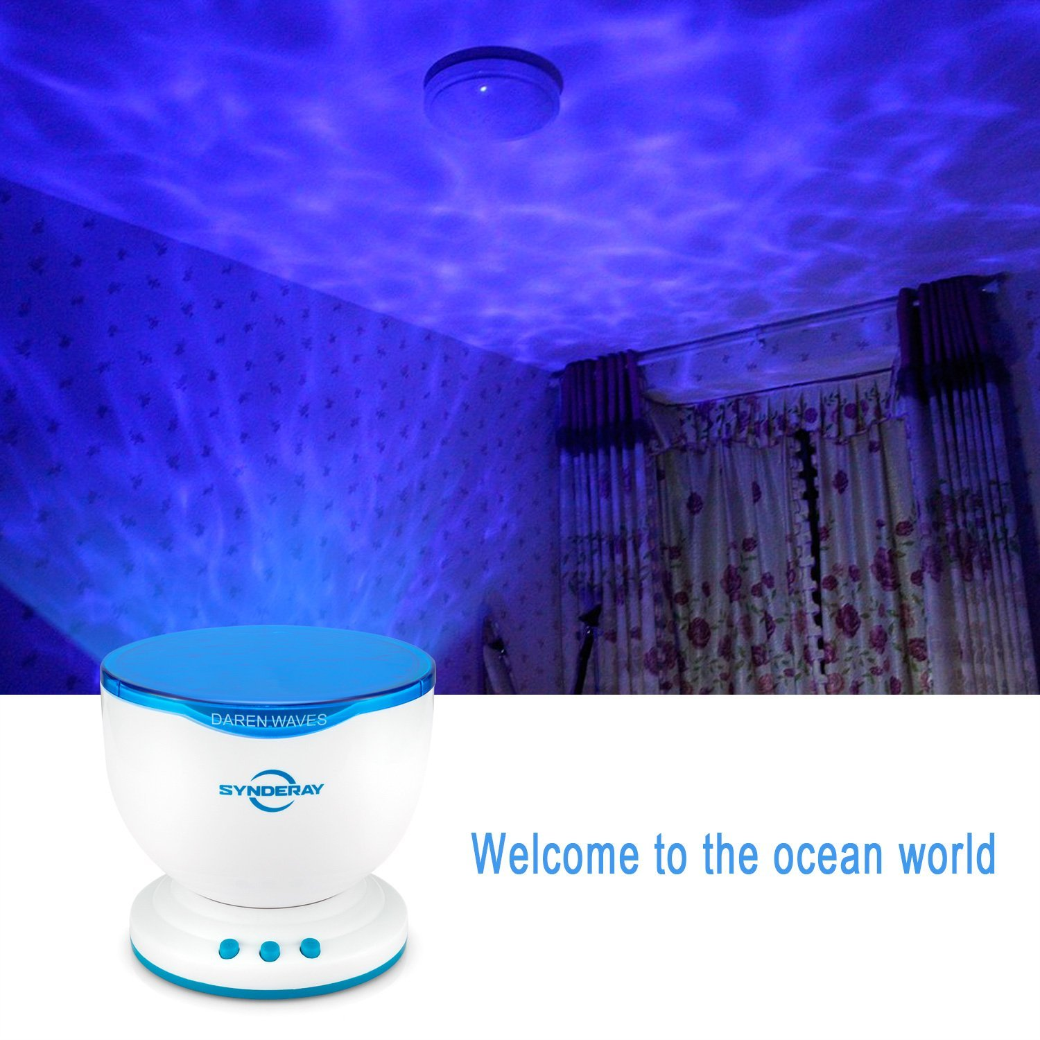 Light Projector Synderay Ocean Wave Night Light Projector And Music Player