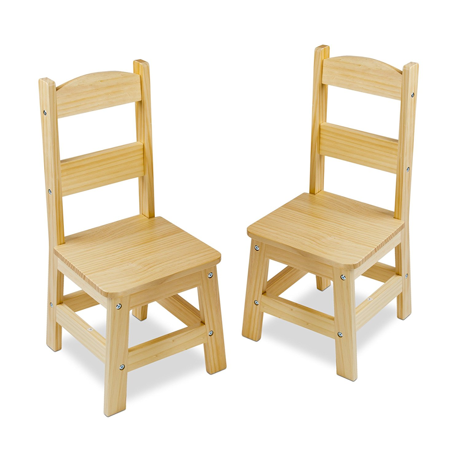 Chair Wooden Melissa And Doug Solid Wood Chairs Set Of 2 Light Finish