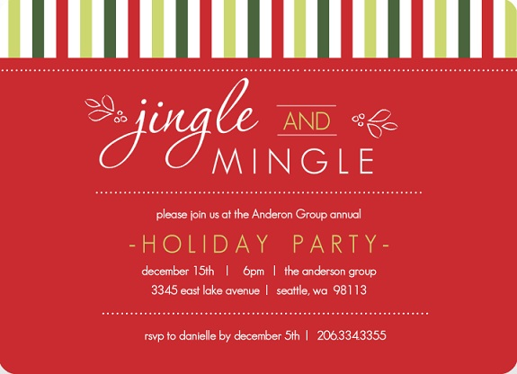 Holiday Party Theme Invitations from PurpleTrail