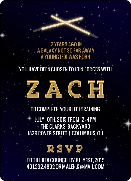 Star Wars Birthday Party Ideas Invitations Activities