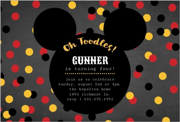 Mickey Mouse Birthday Party Ideas Wording, Activities, Toddlers, Kids - unique mickey mouse invitations