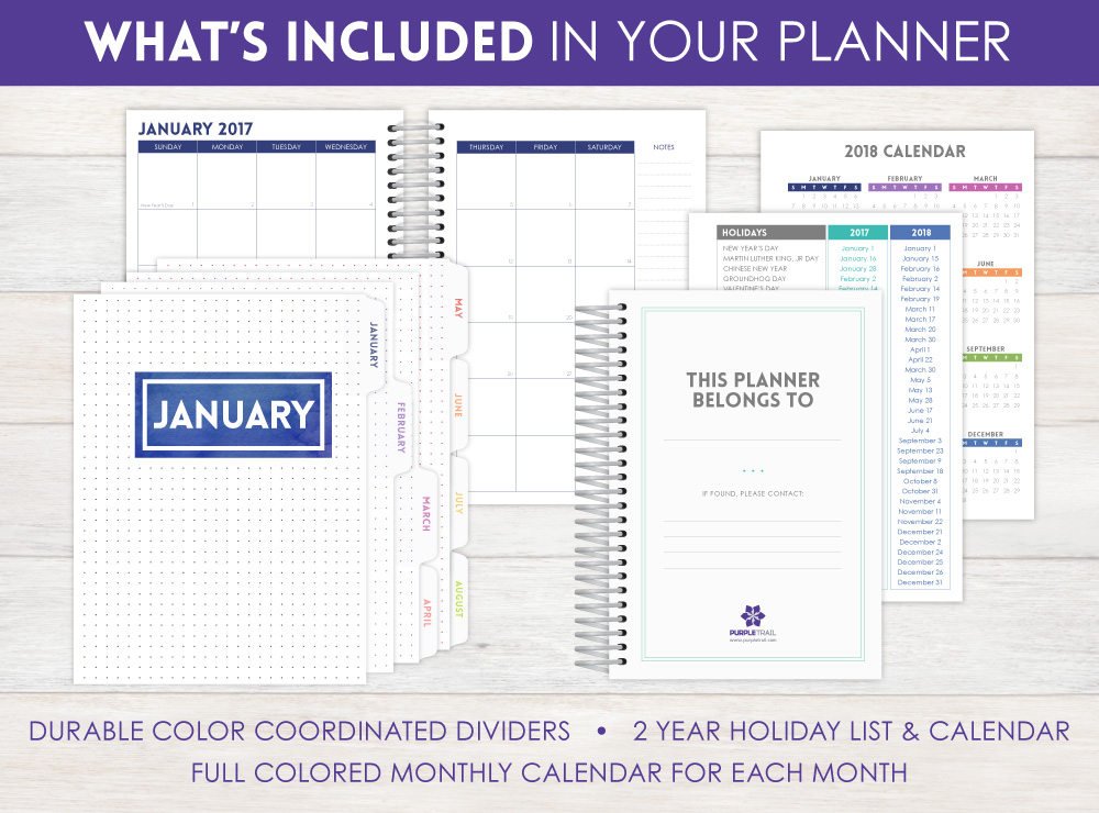 Personal Planner  Weekly Planner by PurpleTrail Invitation Ideas