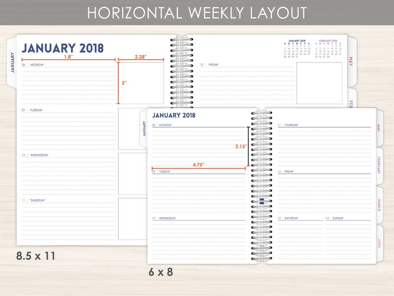 New Weekly Planner Layout Options PurpleTrail Planners