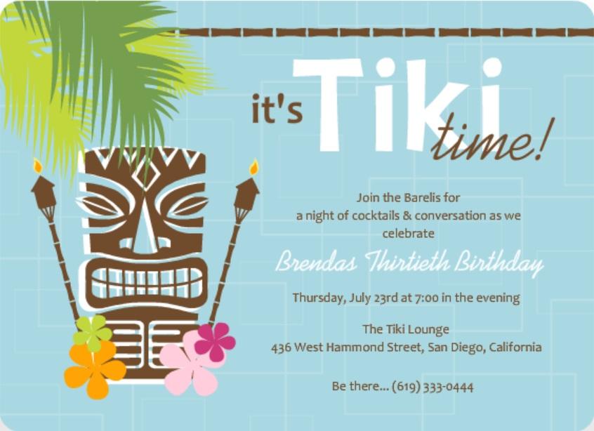 hawaiian invitation wording
