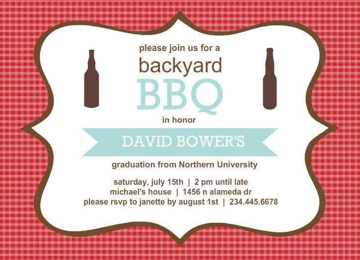 Outdoor Graduation Party Ideas Bbq Picnic Luau Invitaitons