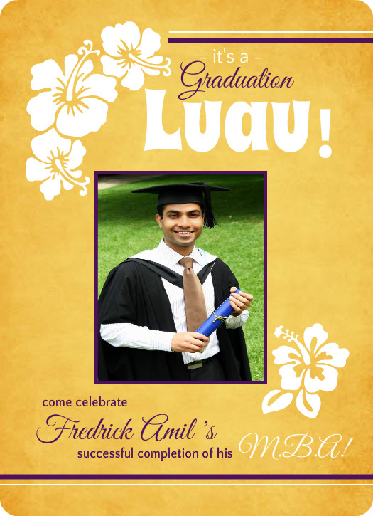 Outdoor Graduation Party Ideas BBQ, Picnic, Luau, Invitaitons - graduation photo invitations