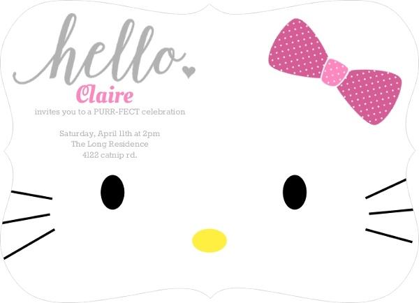 Hello Kitty Birthday Party Ideas, Invitations, Wording, Crafts