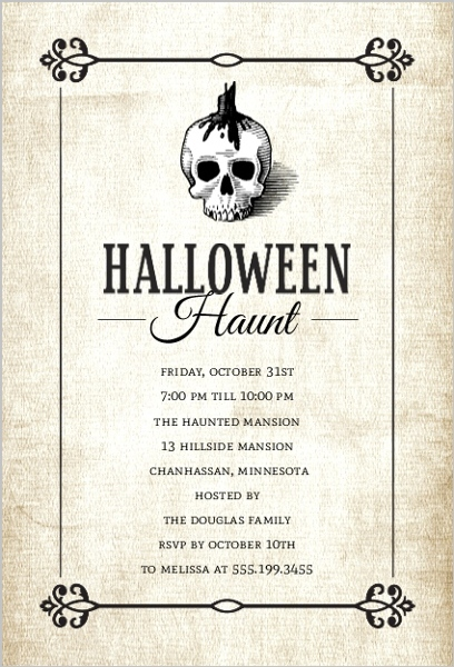 Glamorous Halloween Party Ideas Invitations, Themes, Decorations - invitation for halloween party