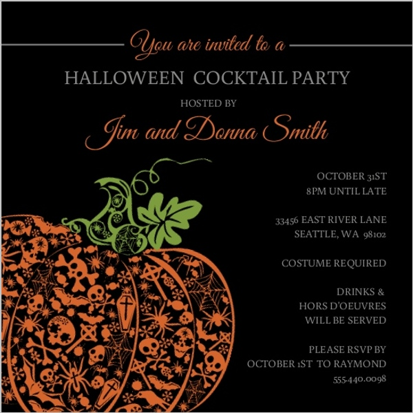 Glamorous Halloween Party Ideas Invitations, Themes, Decorations - halloween invitation