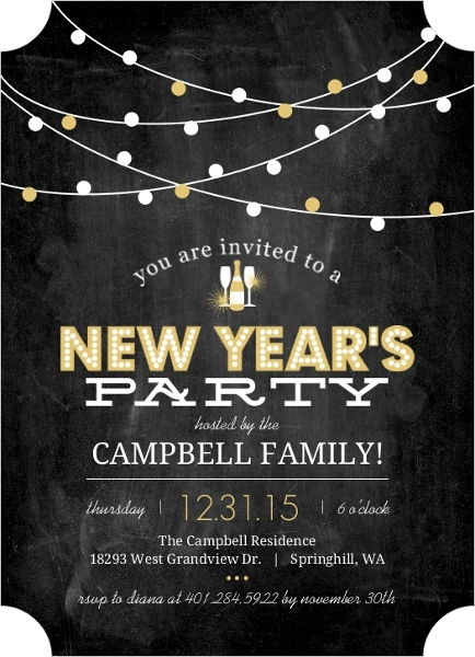 New Year\u0027s Party Invitations - new years party flyer