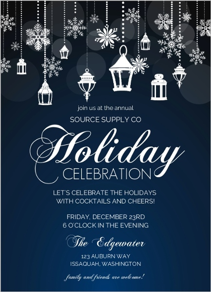 Office Holiday Party Invitation Wording Ideas From PurpleTrail - holiday celebration invitations
