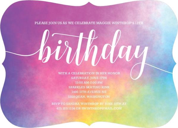 Rainbow Birthday Party Ideas, Invites, Wording, Activities, Favors
