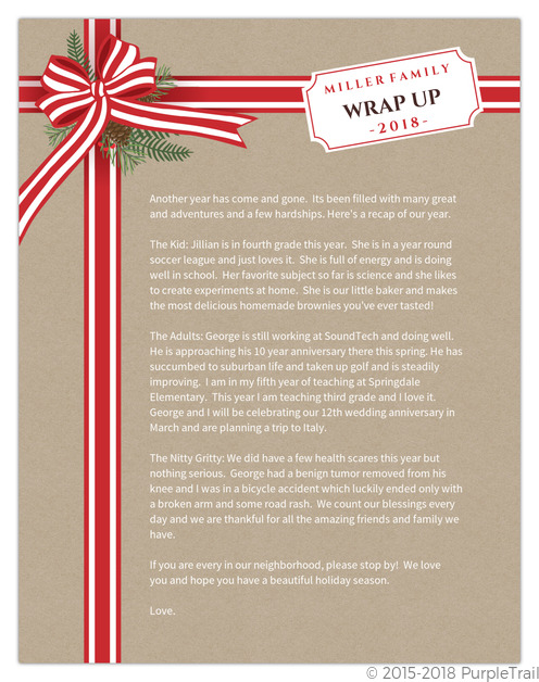 Christmas Letter Ideas  Inspiration From PurpleTrail