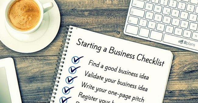 How to Start a Business The Ultimate Checklist - Bplans Blog Bplans