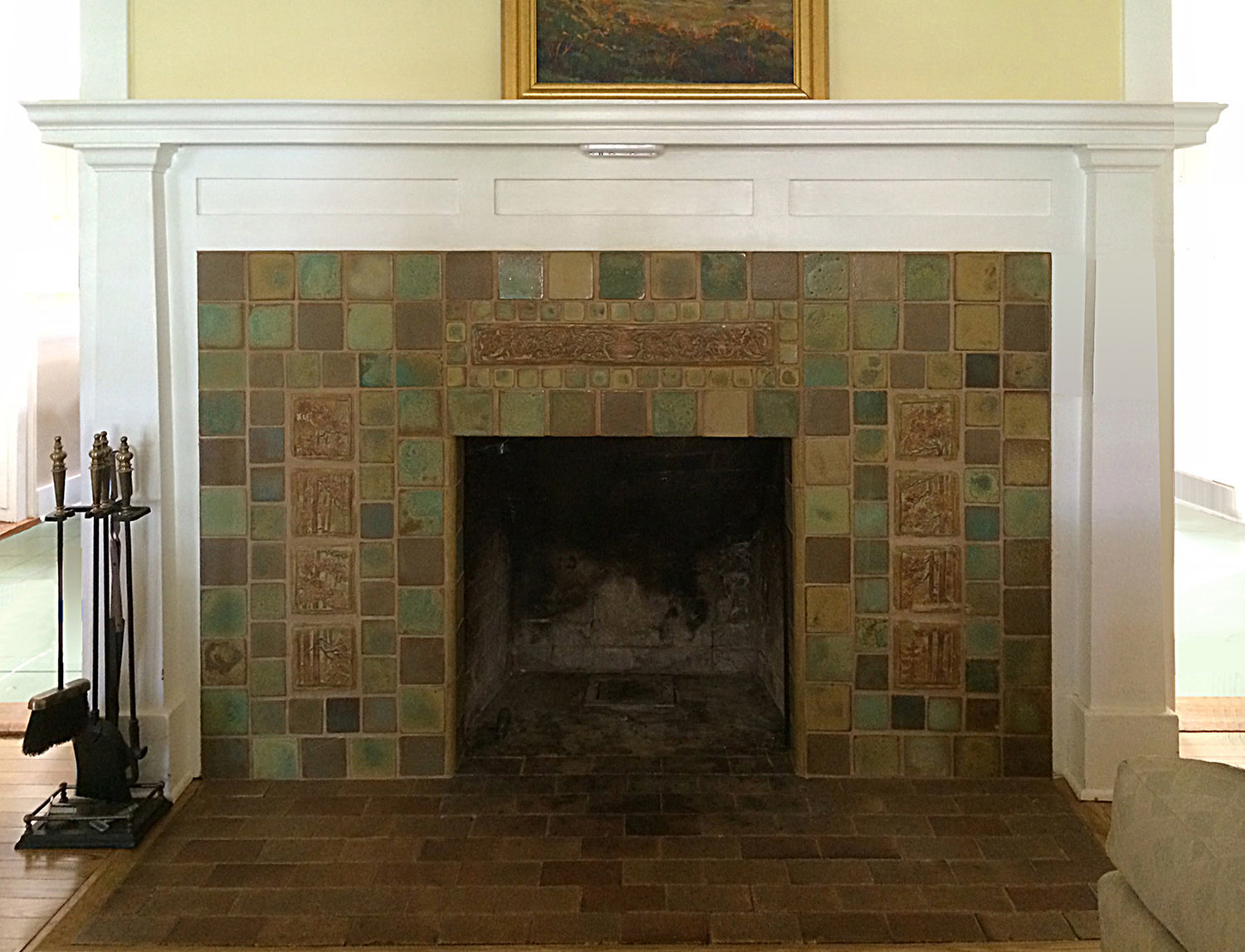 Bungalow Fireplace Mantel Fireplaces Pasadena Craftsman Tile