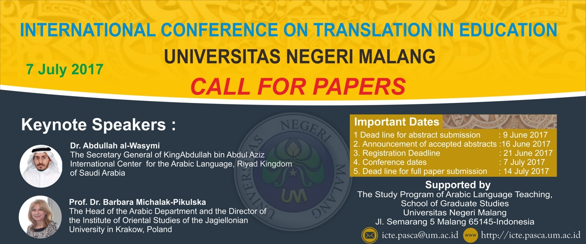 Permalink to: INTERNATIONAL CONFERENCE ON TRANSLATION IN EDUCATION