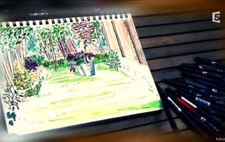 dessin jardin japonisant stephane marie