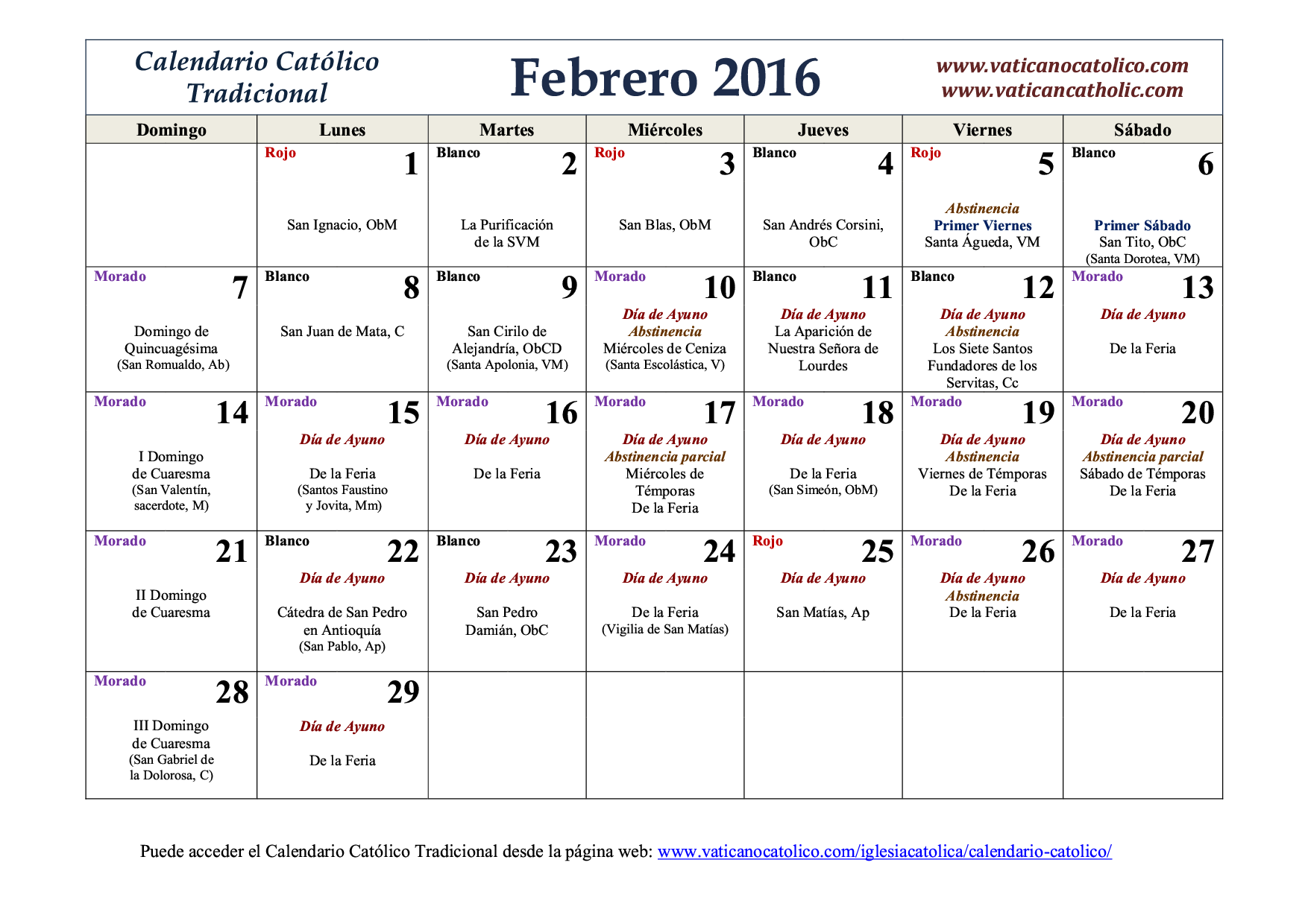 Calendario Mes Febrero Catolico Calendario 2017 Related Keywords Catolico