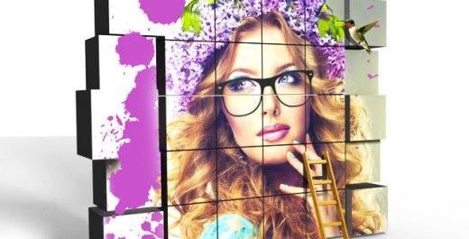 Photoshop CC Tutorial / Cube Wall 【立方体 モデル】