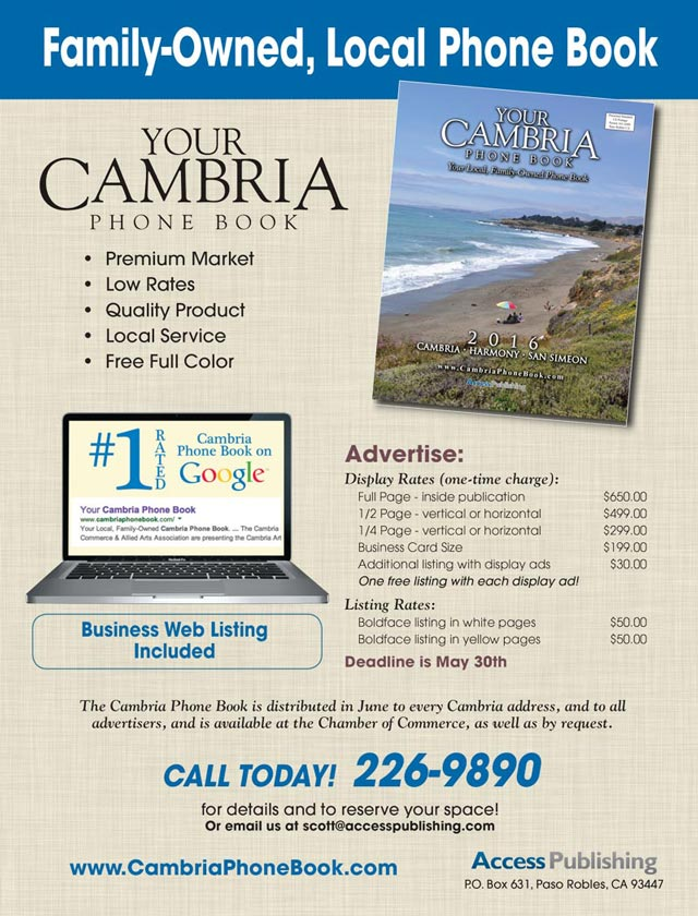 Businesses Reach new customers in Cambria - - business phone book