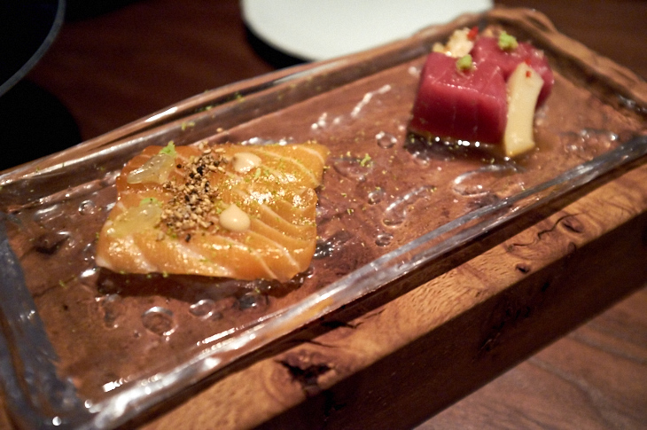 Passagem Gastronômica - Sashimis - Restaurante Sosharu - Londres