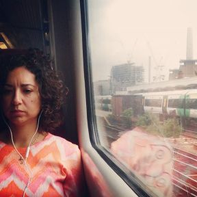 Pensive in pink by southcoasting batterseapowerstation, passengers, traingame,
