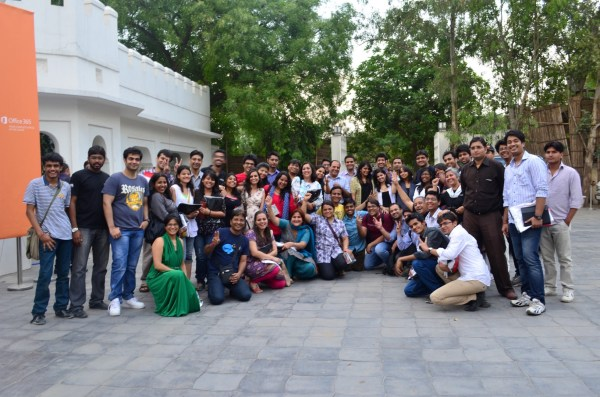 The bloggers... the indibloggers in Delhi!