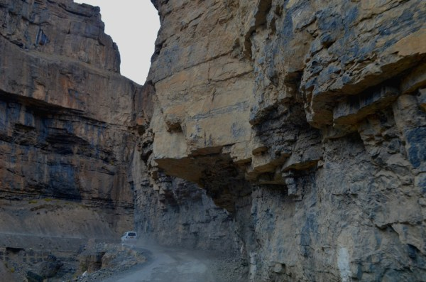Journey to Kaza - The towering rocks seem straight out of some thriller!