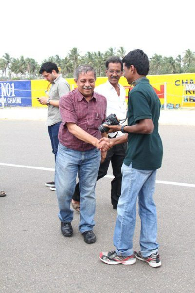 Driving with Narain Karthikeyan_still wobbly after the dizzying drive!