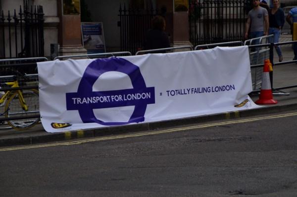 London Cab strike. 11 June 2014.  The way the strikers interpret TFL_02