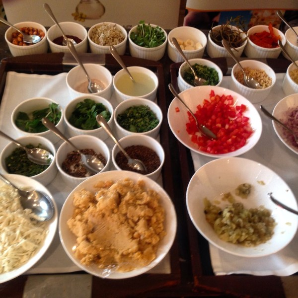 The colourful array of ingredients in Indian cooking always makes me smile!