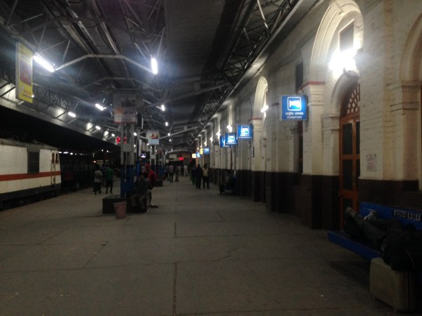 Kalka station at night... and we were lucky to have booked one of the two retiring rooms