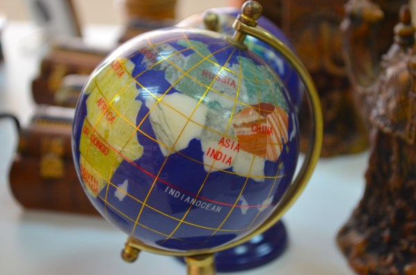 Well... a globe that I found in a store in Madaba... guess where the middle of the Middle East is :)