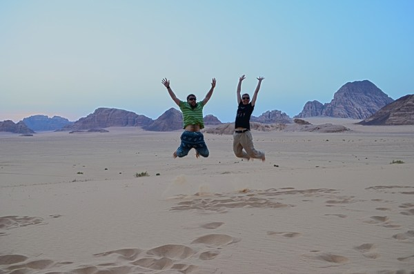 Wadi Rum, Jordan... can anyone jump in delight. My gAdventures mates