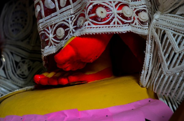 012_Durga Puja. No detail is left out, not even the colour on parts that might not be visible from far