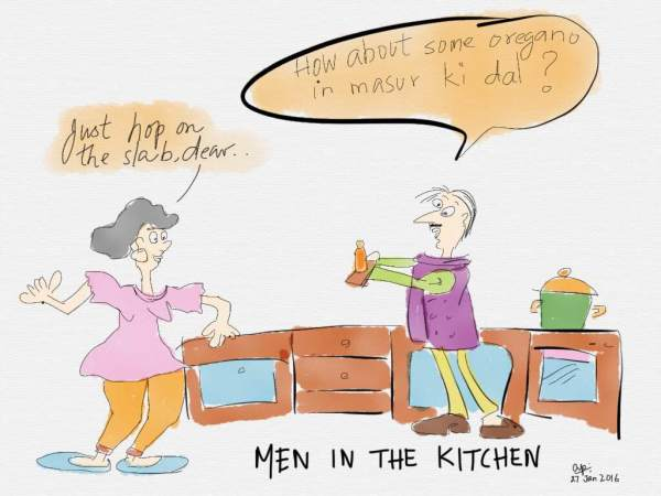Men in the kitchen are like consultants for organisations