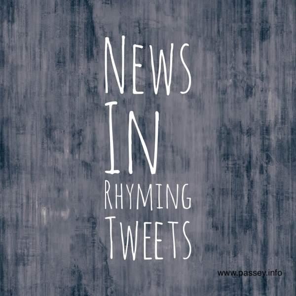News in rhyming tweets