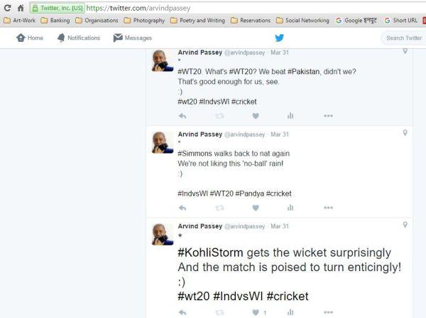 Tweets - cricket - rhymes - tweeted rhymes - India vs West Indies - WT20