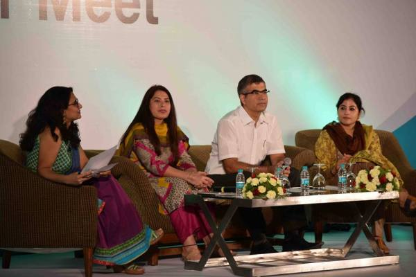 The panel of experts at the Indiblogger-Horlicks event in Delhi