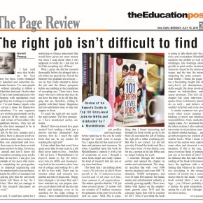 The right job isn't difficult to find