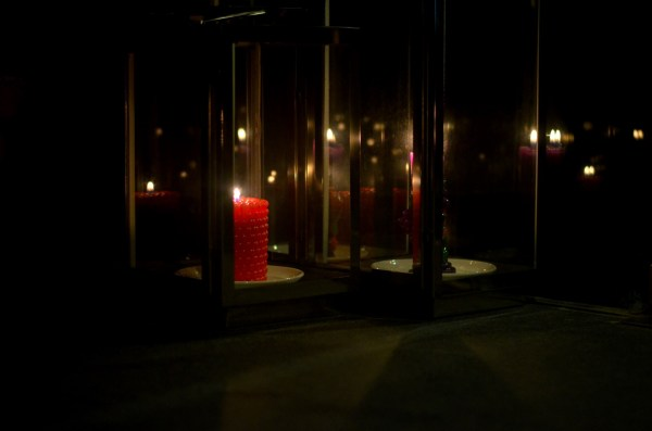 Namah Resort - another low light shot attempted. Candles lit at the entrance to the lobby beckon emotions to resurface